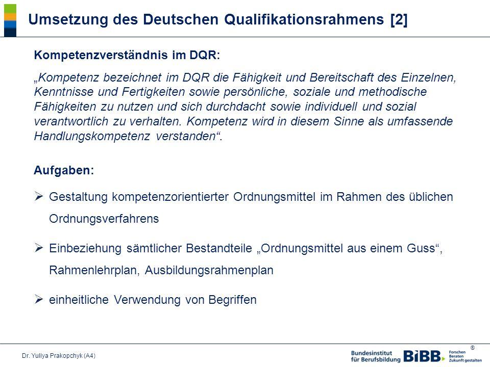 Umsetzung des Deutschen Qualifikationsrahmens [2]